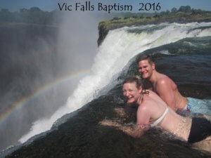 Sean, Cassandra & Moorea Rox at Victoria Falls