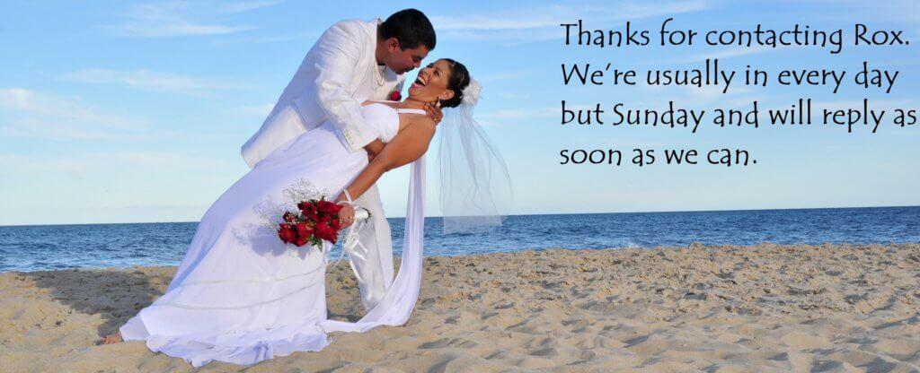 Rox Beach Weddings Thanks You
